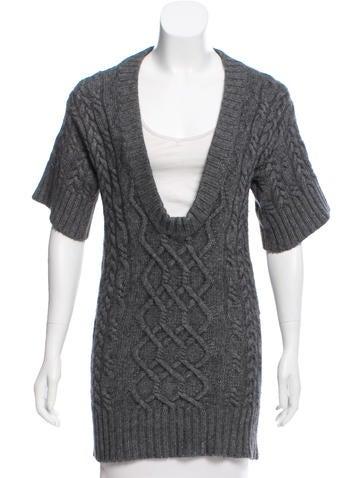 Autumn Cashmere Cashmere-Blend Cable Knit Tunic None