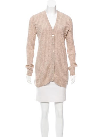 Autumn Cashmere Rib Knit Cashmere Cardigan None