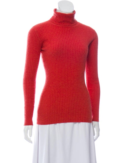 Autumn Cashmere Cashmere Turtleneck Sweater Orange