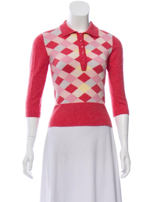 Autumn Cashmere Cashmere Printed Sweater Pink