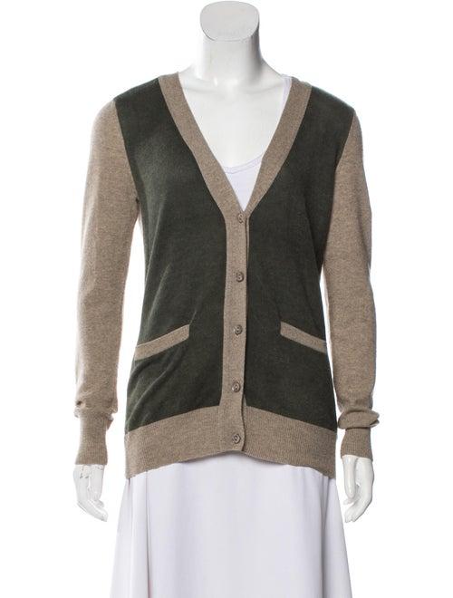 Autumn Cashmere Cashmere Colorblock Pattern Sweate