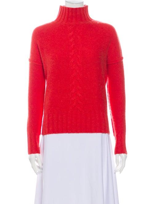 Autumn Cashmere Cashmere Mock Neck Sweater Red