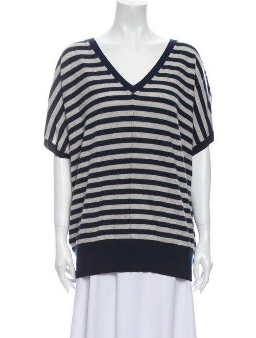Autumn Cashmere Cashmere Striped Sweater Blue