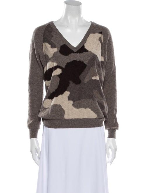 Autumn Cashmere Cashmere Printed Sweater Brown