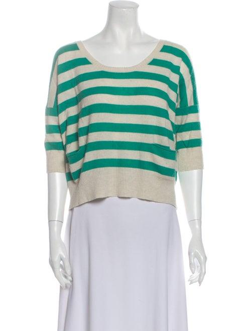 Autumn Cashmere Cashmere Striped Sweater Green