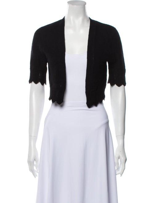 Autumn Cashmere Cashmere Open Front Sweater Black