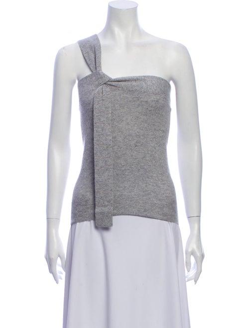 Autumn Cashmere Cashmere One-Shoulder Sweater Grey