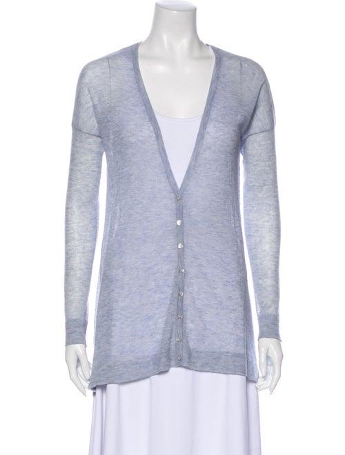 Autumn Cashmere Cashmere V-Neck Sweater Blue