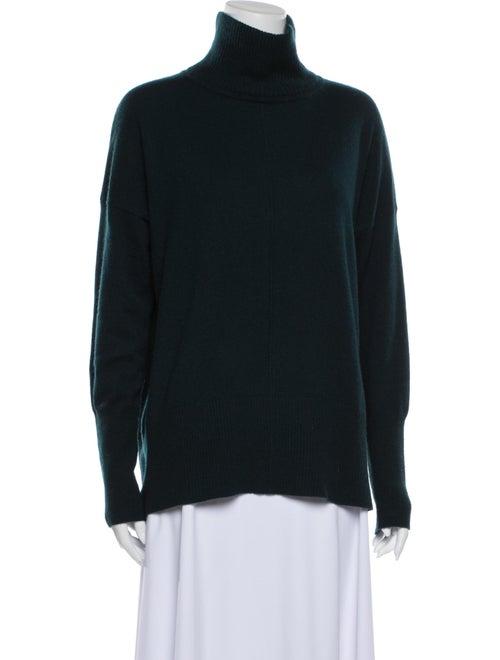 Autumn Cashmere Cashmere Turtleneck Sweater Green