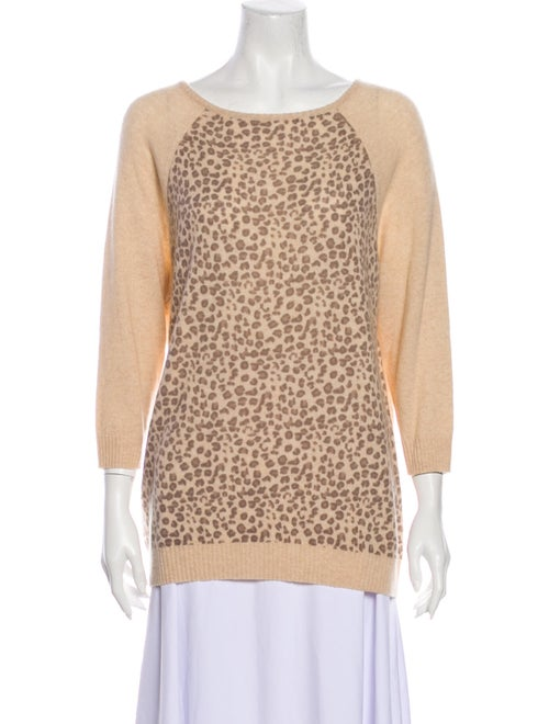 Autumn Cashmere Cashmere Animal Print Sweater w/ T