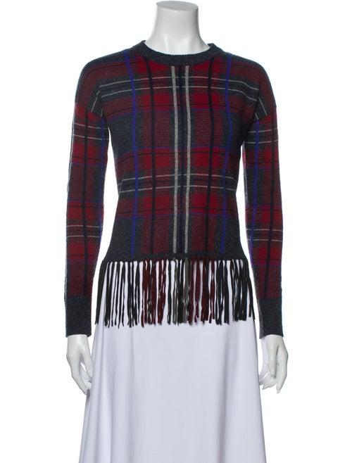 Autumn Cashmere Cashmere Plaid Print Sweater Grey
