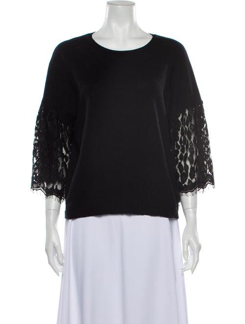 Autumn Cashmere Cashmere Scoop Neck Sweater Black