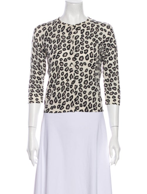 Autumn Cashmere Cashmere Animal Print Sweater Whit
