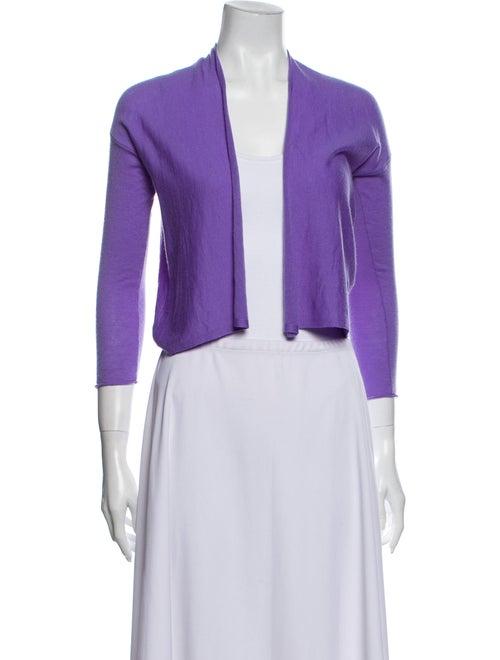 Autumn Cashmere Cashmere Open Front Sweater Purple