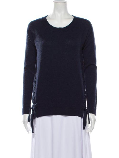 Autumn Cashmere Cashmere Scoop Neck Sweater Blue