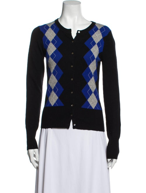 Autumn Cashmere Cashmere Printed Sweater Black