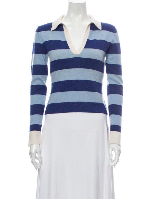 Autumn Cashmere Cashmere Striped Sweater Blue