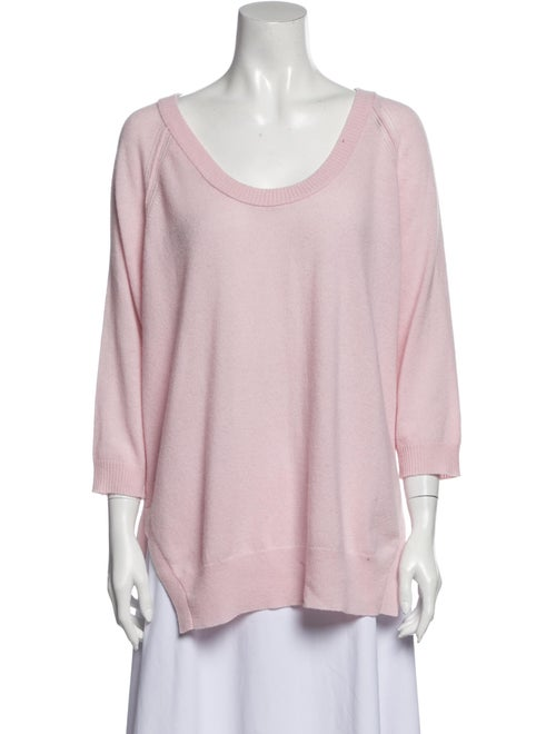 Autumn Cashmere Cashmere Scoop Neck Sweater Pink