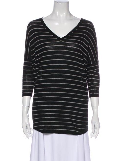 Autumn Cashmere Cashmere Striped Sweater Black