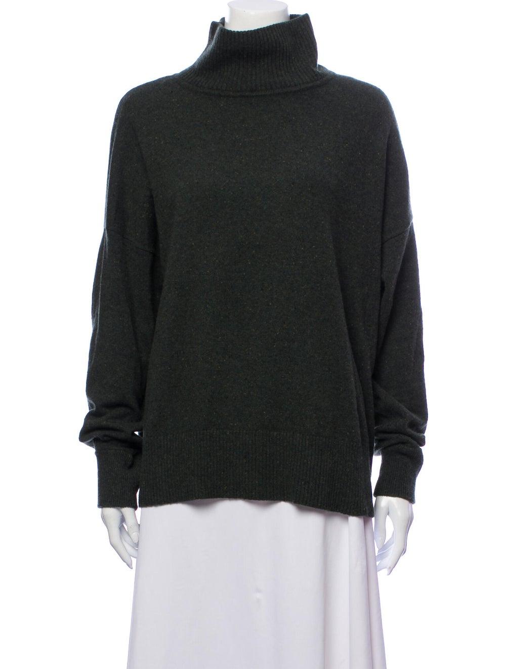 Autumn Cashmere Cashmere Turtleneck Sweater Green - image 1