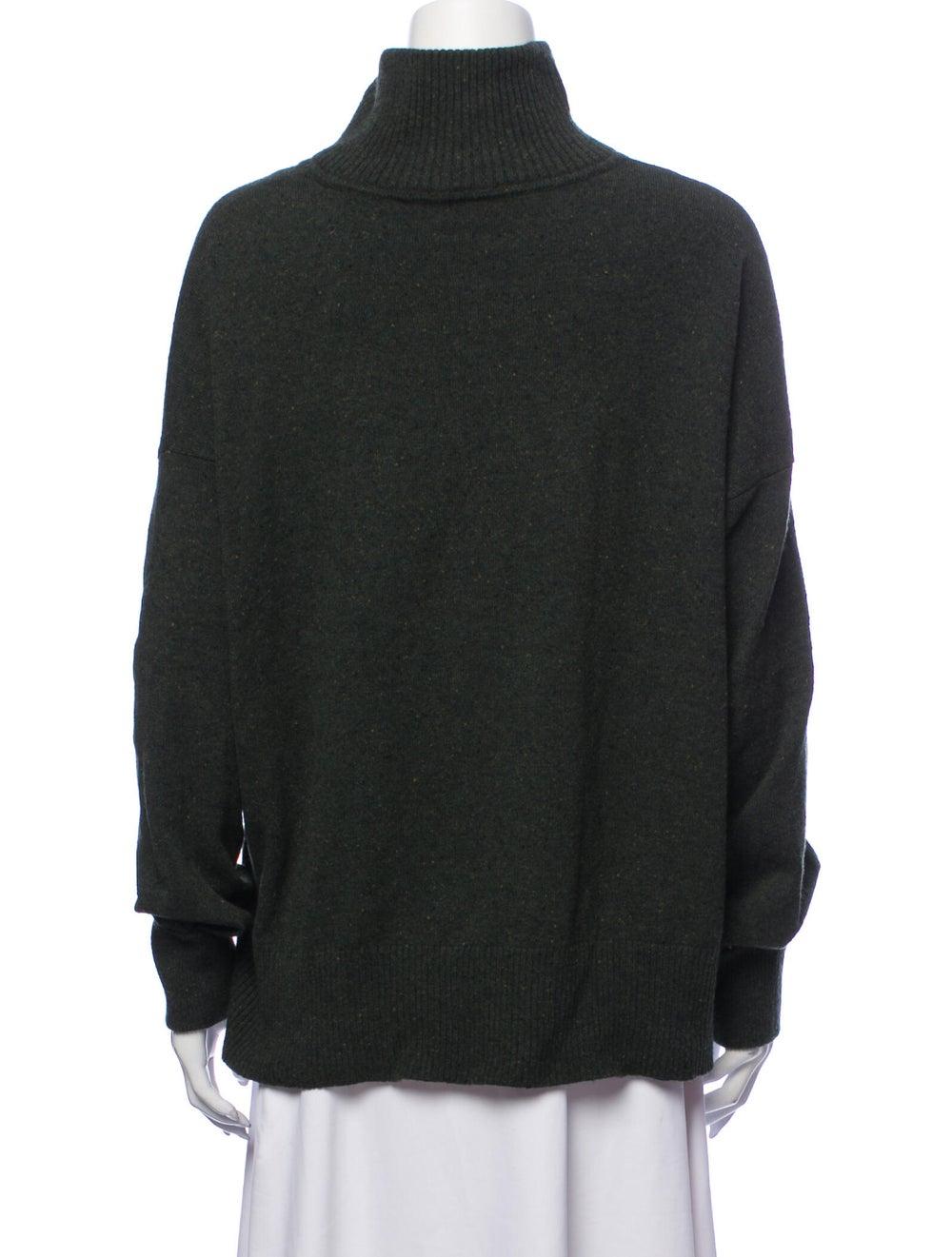 Autumn Cashmere Cashmere Turtleneck Sweater Green - image 3
