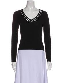 Autumn Cashmere V-Neck Long Sleeve Top