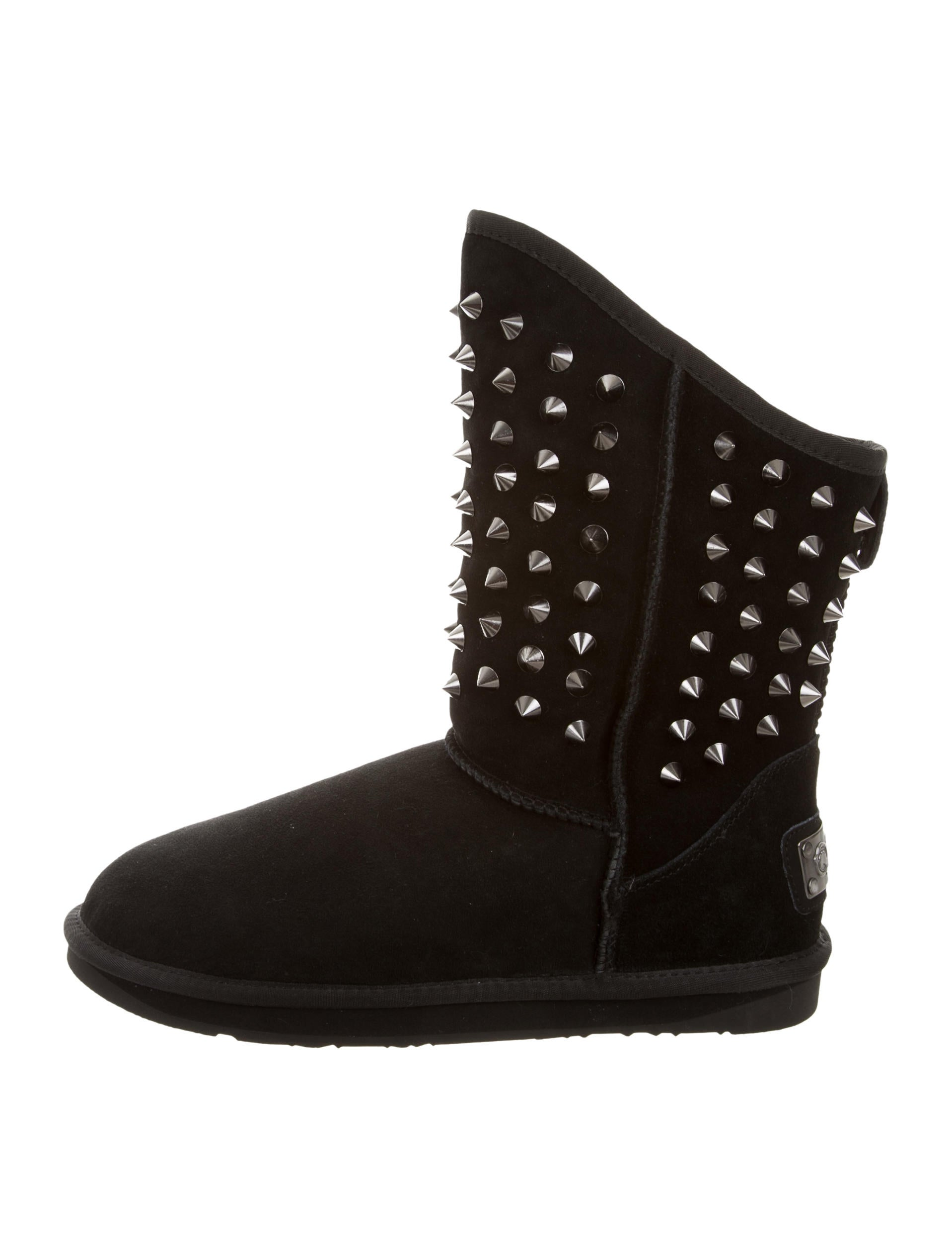 australia luxe collective suede studded ankle boots