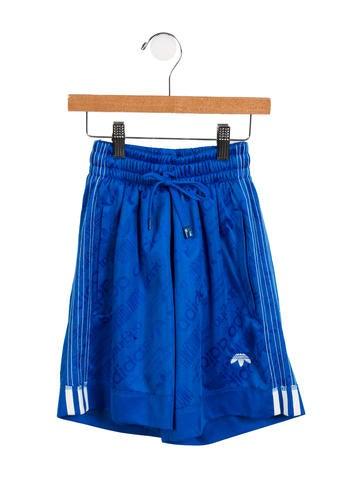 Alexander Wang x Adidas Boys' Logo Athletic Shorts None