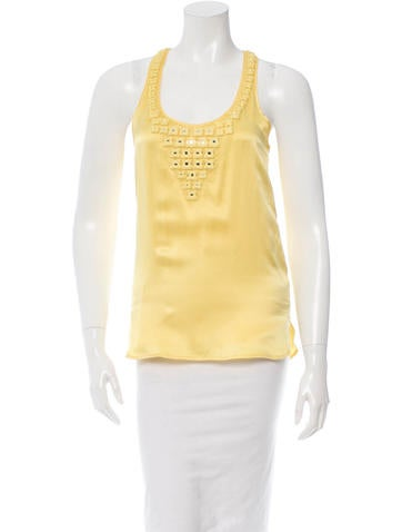 Adam Embellished Silk Top None