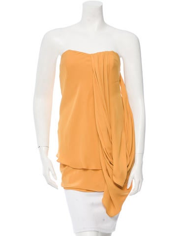 Adam Draped Strapless Top None