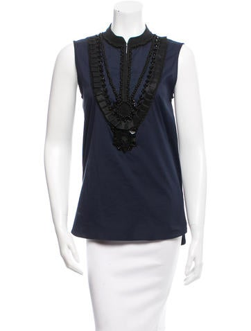 Adam Embellished Sleeveless Top w/ Tags None
