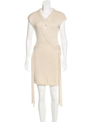 Adam Alpaca Cable Knit Dress None