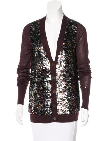 Adam Sequin-Embellished Bamboo Cardigan