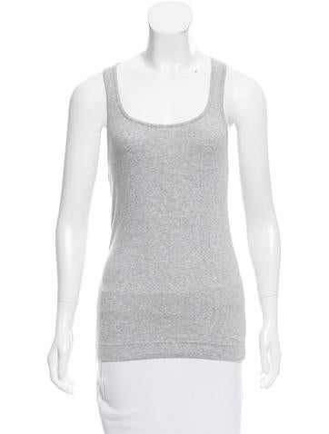 Adam Rib Knit Sleeveless Top None