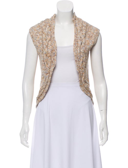 Adam Sleeveless Knit Cardigan Beige