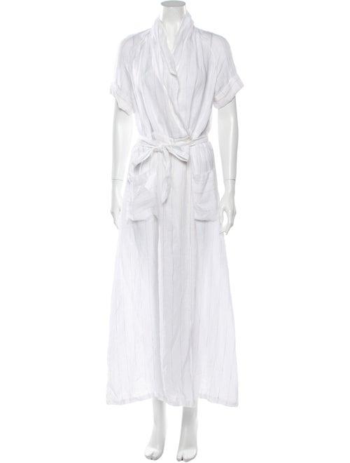 AYR Linen Midi Length Dress White