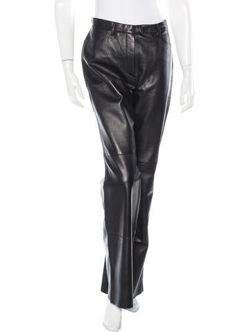 Bogner Flared Leather Pants w/ Tags