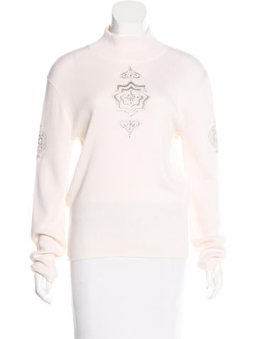 Bogner Embroidered Mock Neck Sweater None