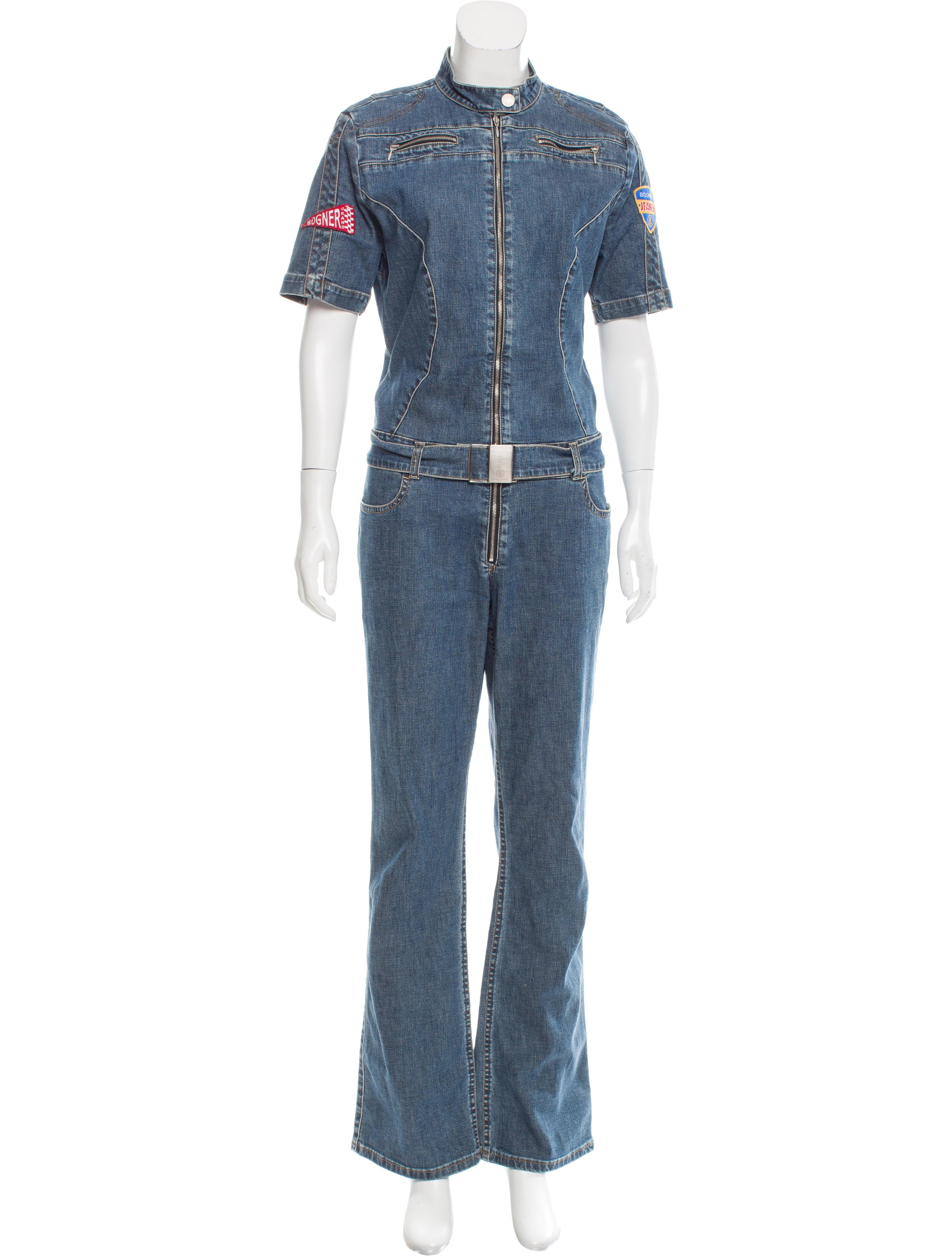 bogner belted denim jumpsuit clothing wb120464 the