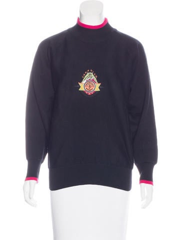 Bogner Embroidered Knit Sweater None