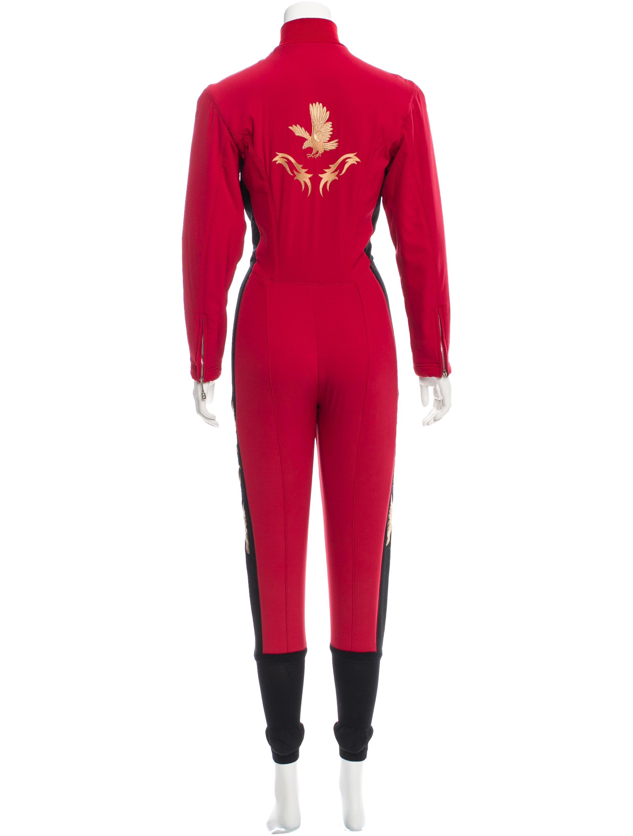bogner embroidered fleece jumpsuit clothing wb120646