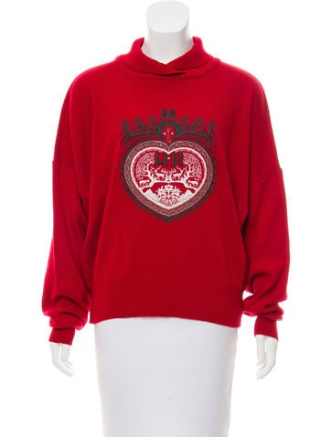 Bogner Embroidered Wool-Bend Sweater None