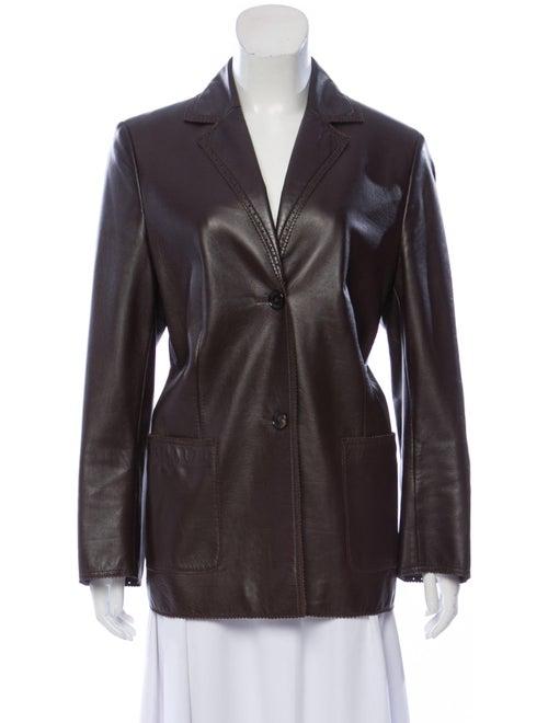 Bogner Leather Blazer Brown