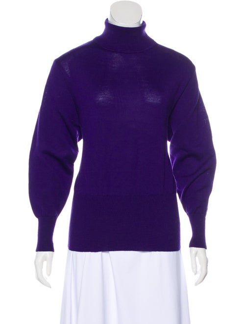Bogner Turtleneck Long Sleeve Sweater Purple