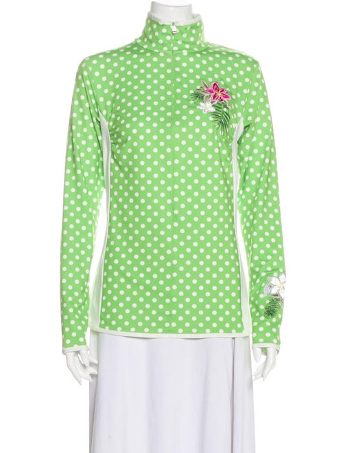 Bogner Polka Dot Print Jacket Green