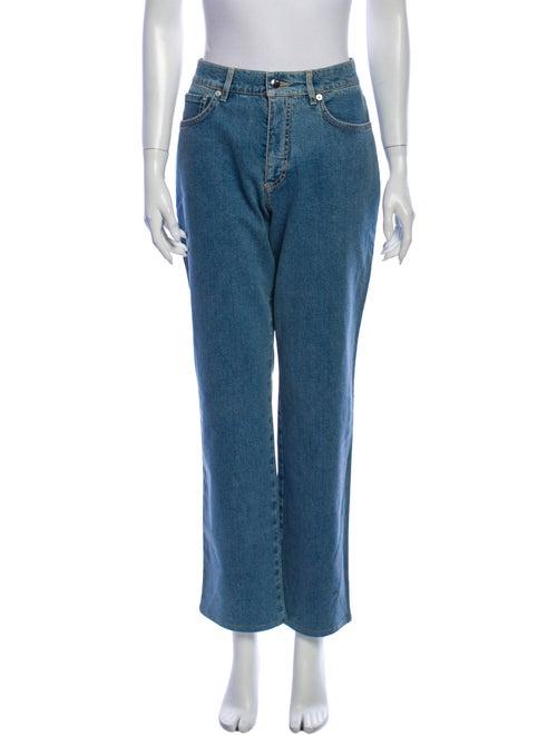 Bogner Mid-Rise Straight Leg Jeans Blue