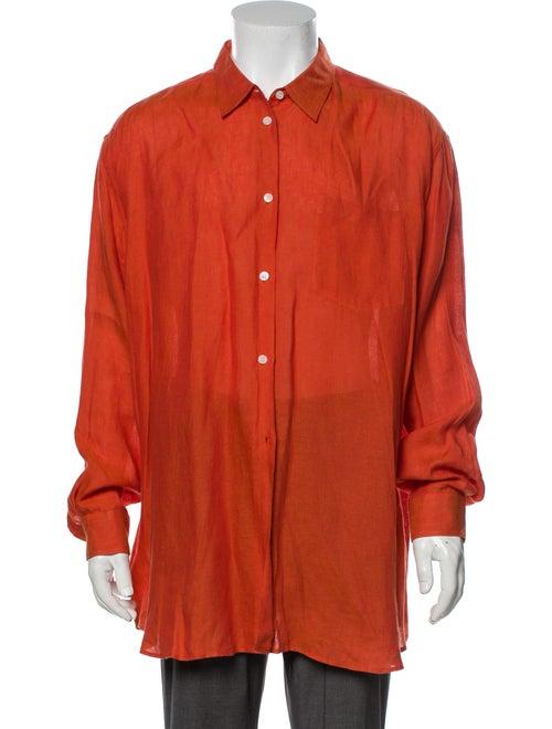 Bogner Linen Long Sleeve Shirt Orange