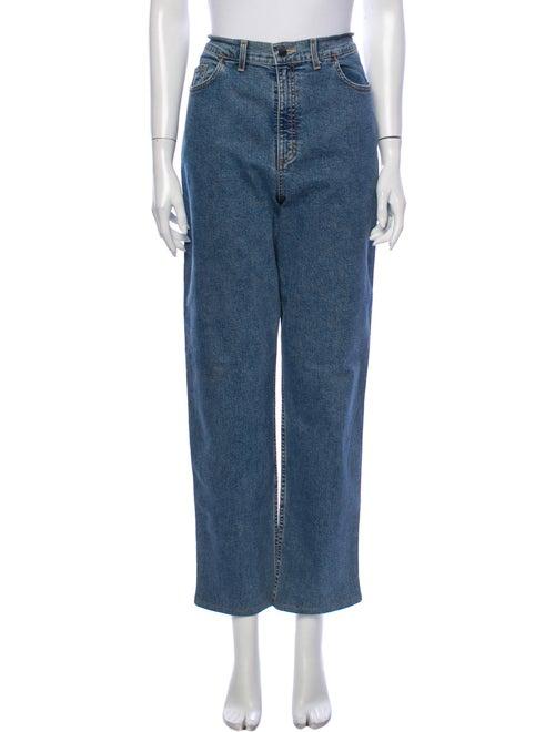 Bogner High-Rise Straight Leg Jeans Blue