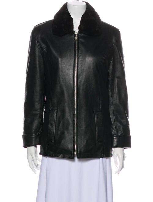 Bogner Leather Jacket Brown