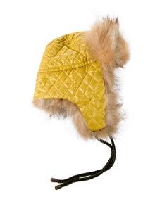 Bogner Girls' Fur Trim Hat